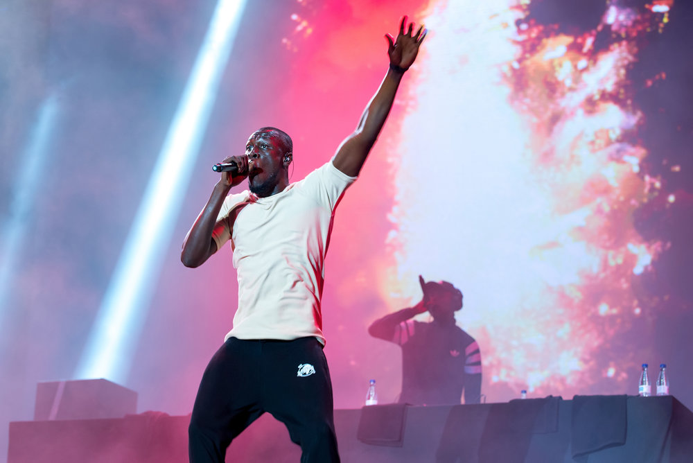 Stormzy, performing in Benicassim, Spain on July 13, 2017.
