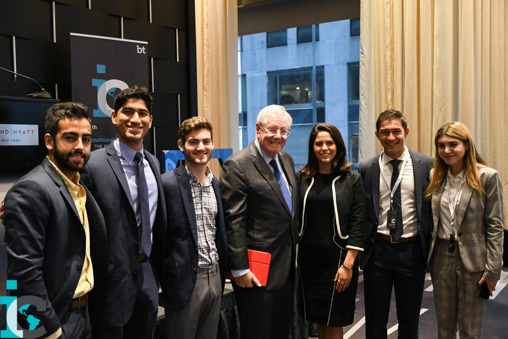 Steve Forbes with the students of Business Today