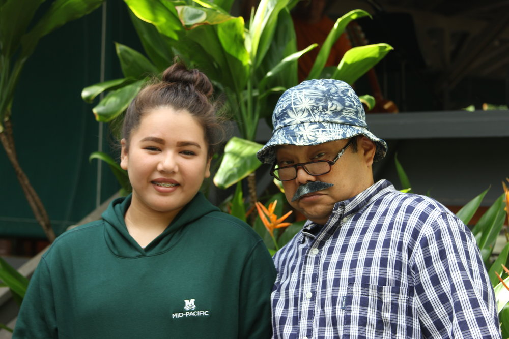 Uncle Masa with his daughter, Macie ('17)