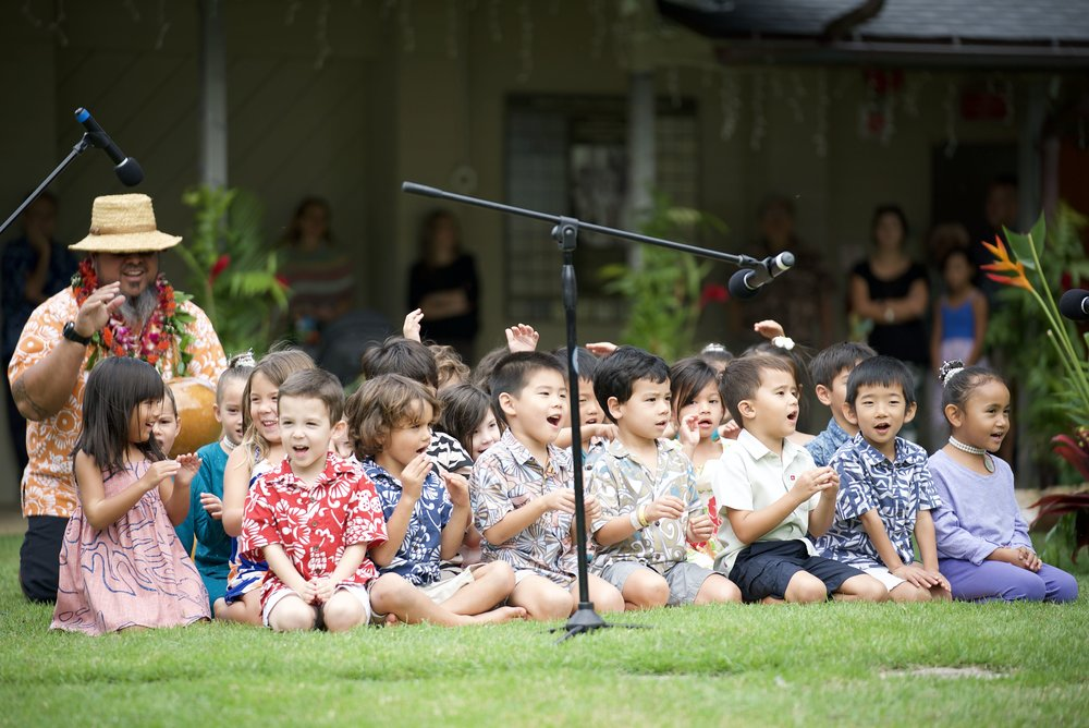 "Our youngest students, the JK class, shared ""Pīʻāpā"", or the Hawaiian alphabet. The Hawaiian language was adapted into a written language in 1822. This song helps you learn all 16 letters of the Hawaiian alphabet."