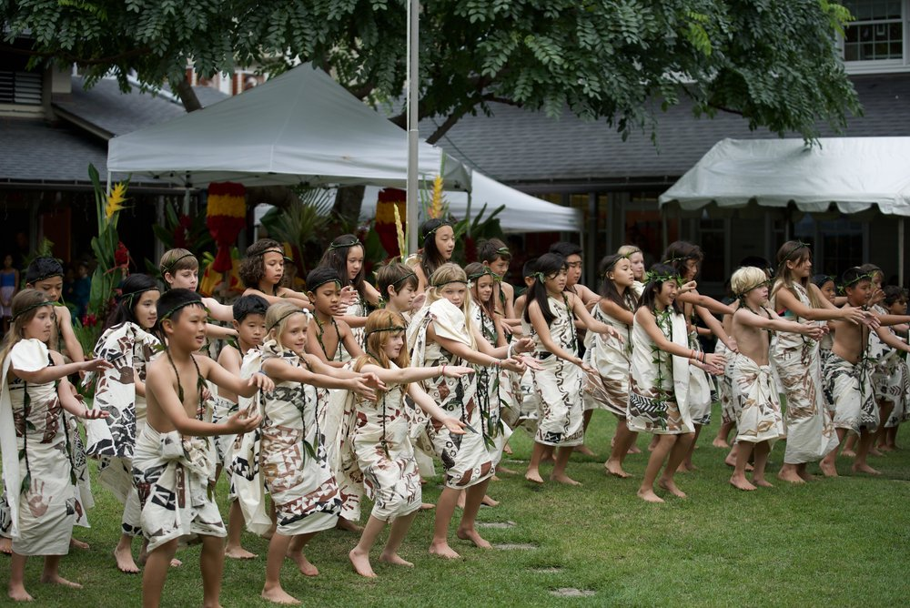 "The students of Poʻe Kaʻahele shared the chant, ""Ulei i Pahu i Ta Motu"". The chant is a prophecy given by a Kaua'i priest who foresaw the coming of Captain James Cook and the changes that would come to Hawaiʻi. The song speaks about steering your boat through rapid currents, just like Hawaiʻians steered through the many changes to their way of life."