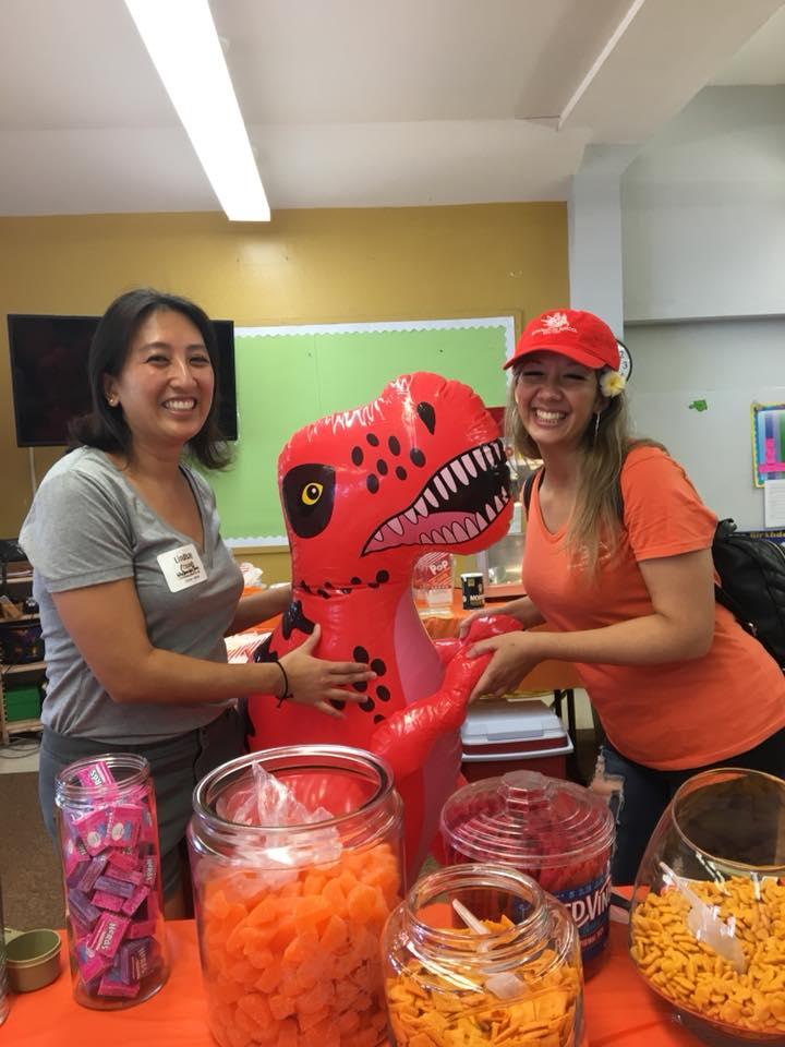 Lindsay and Kona at Dinosaur Diner.jpg