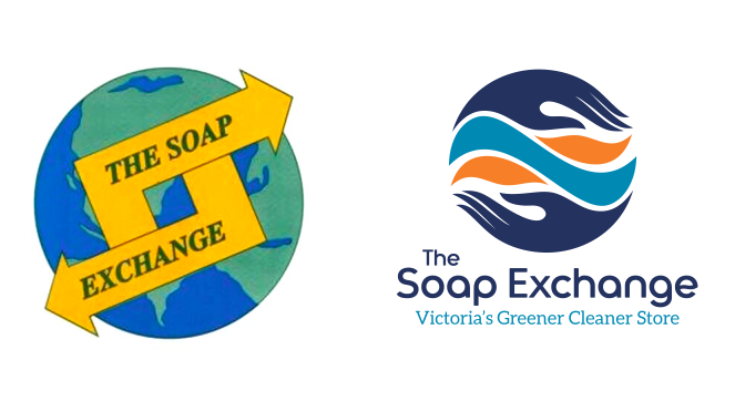 Rebranding Victoria Soap Exchange old and new logo