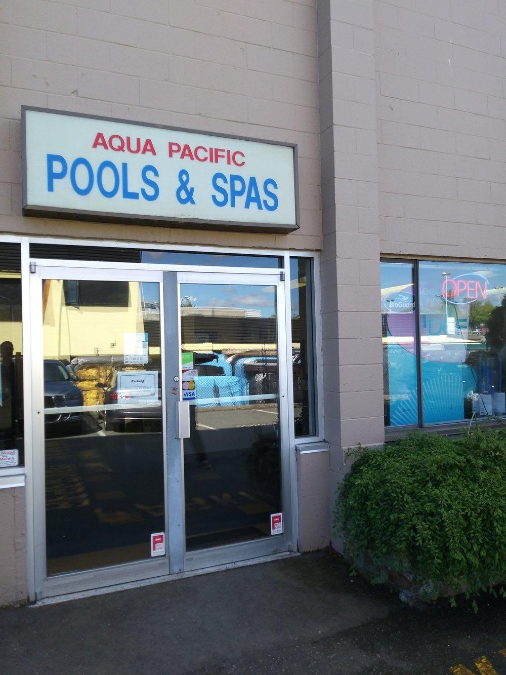 Aqua Pacific old signage