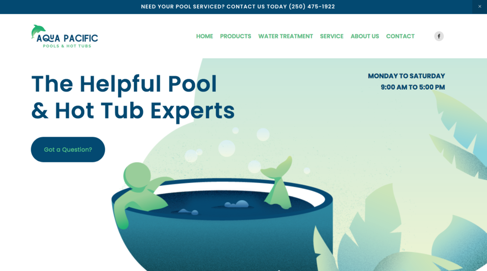 Rebrand of  Aqua Pacific  includes killer website design by Megan Munro