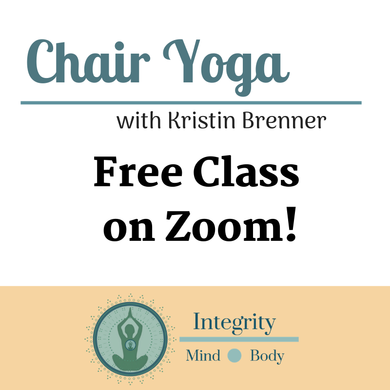 Free Chair Yoga Zoom Class Integrity Mind Body