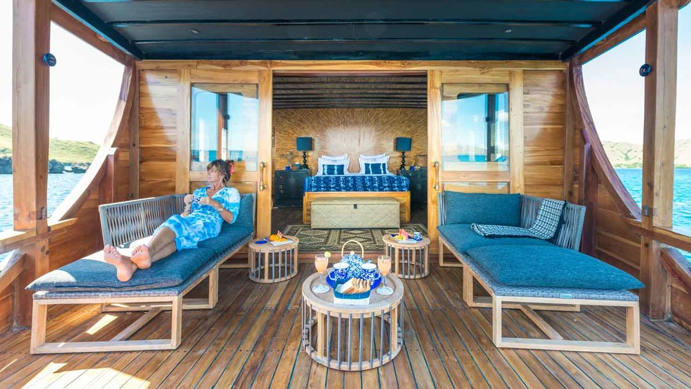 Luxurious Balcony of the Master Cabine on Ocean Pure cruise
