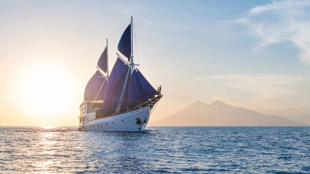 Ocean Pure sailing with the sunsets of Indonesia