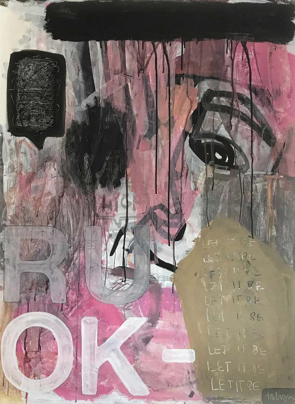 ru OK / 2017  MIXED MEDIA ON CANVAS  36X48""