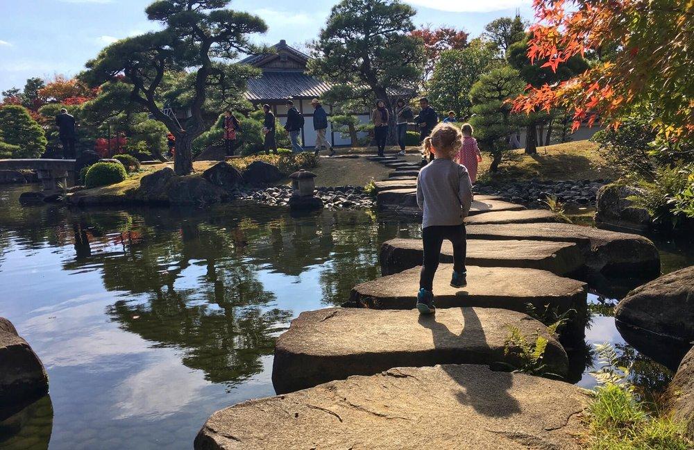 Girls in Himeji Garden.JPG