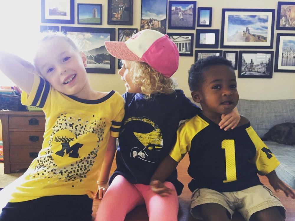 Kids for Michigan Game.JPG