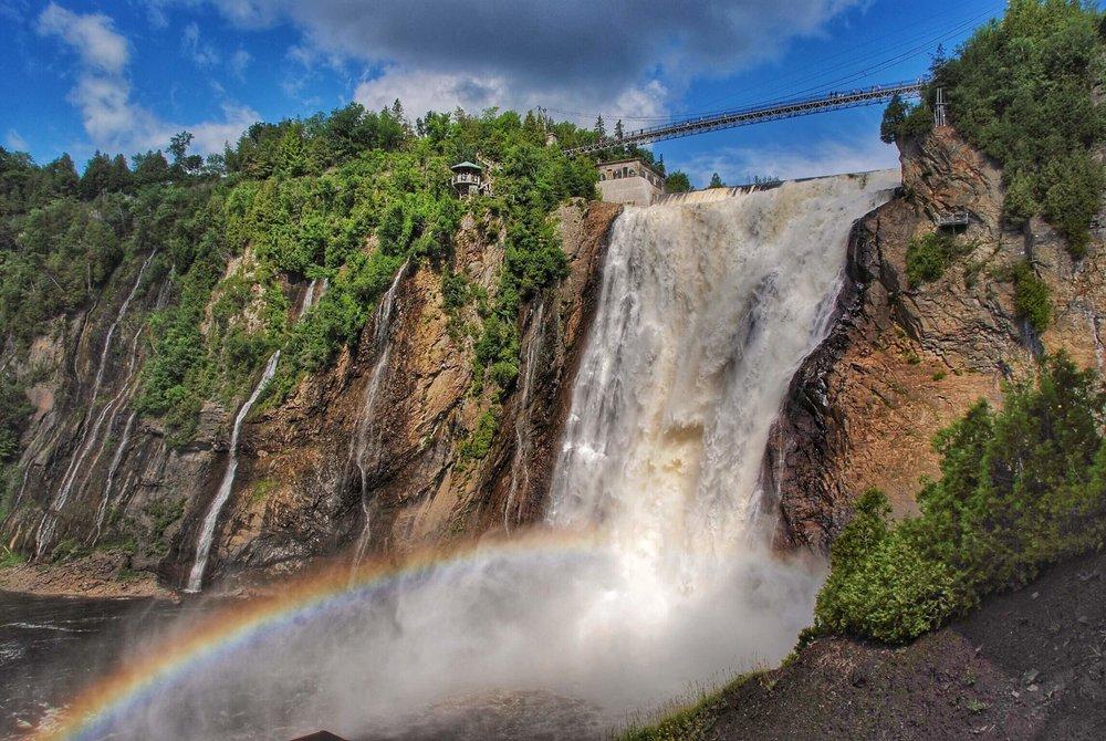 Rainbown Below Montmorency Falls