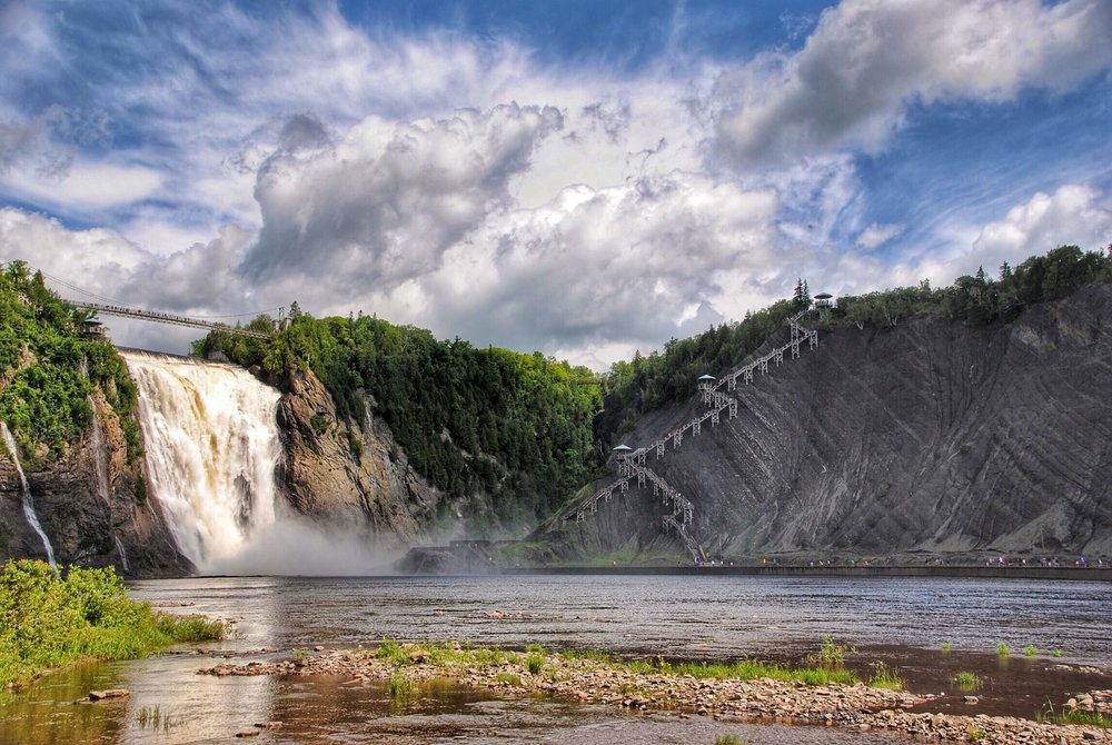 Montmorency Falls from Distance