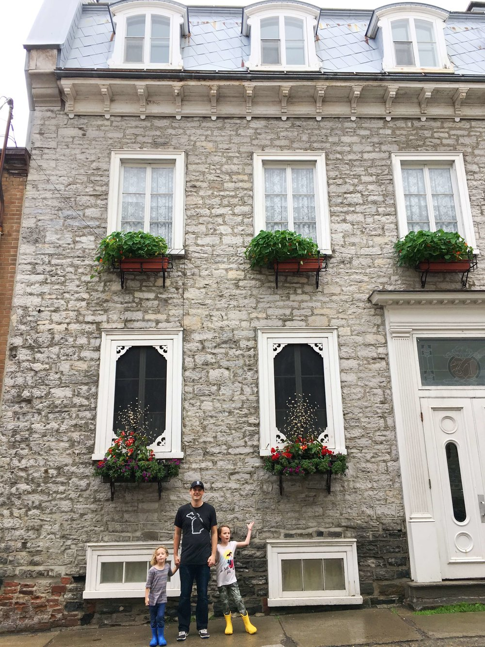 We rented one floor of this beautiful building in Quebec City.