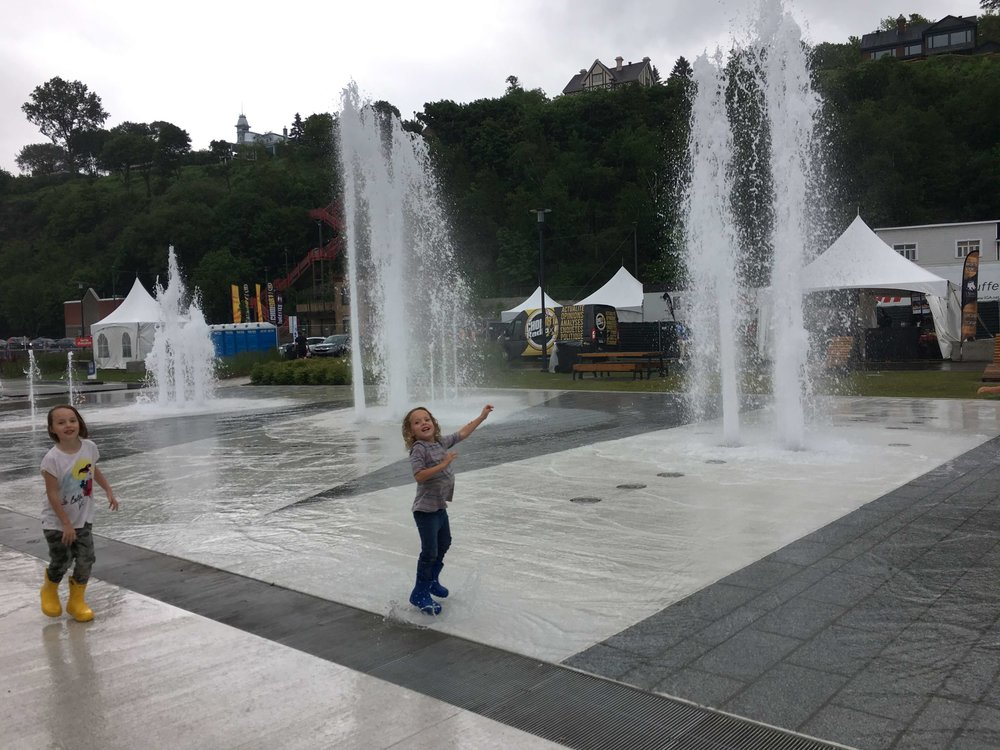 Quebec City for Kids - Fountains