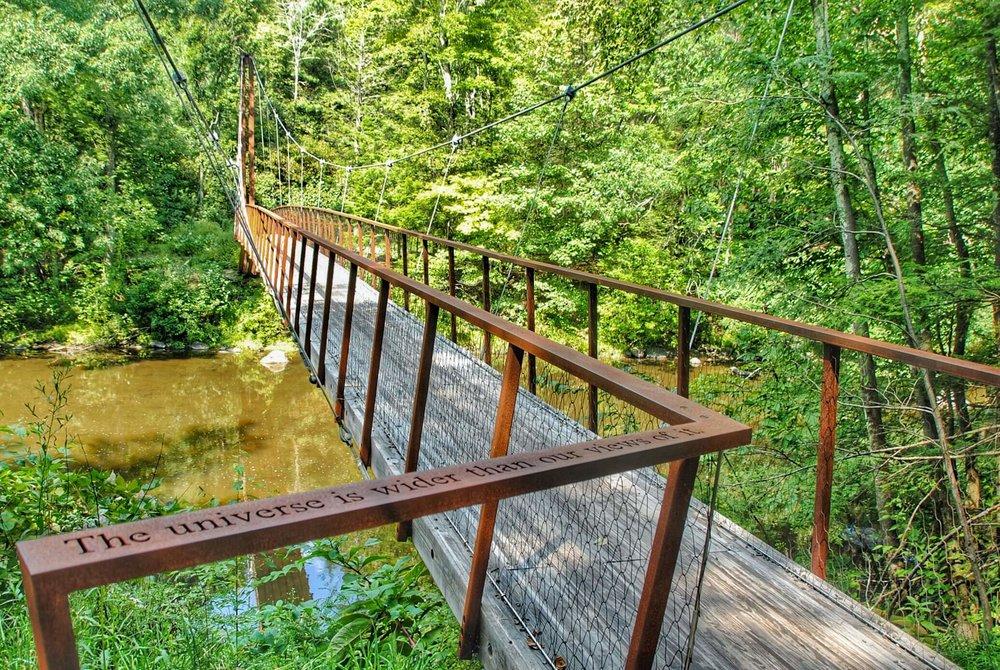 Bridge across the Shepaug River on the Bee Brook Loop