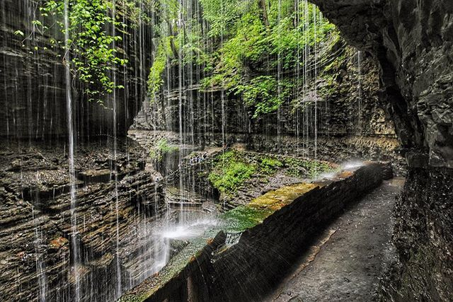 Another #waterfallwednesday from Watkins Glen...this time from underneath the falls.