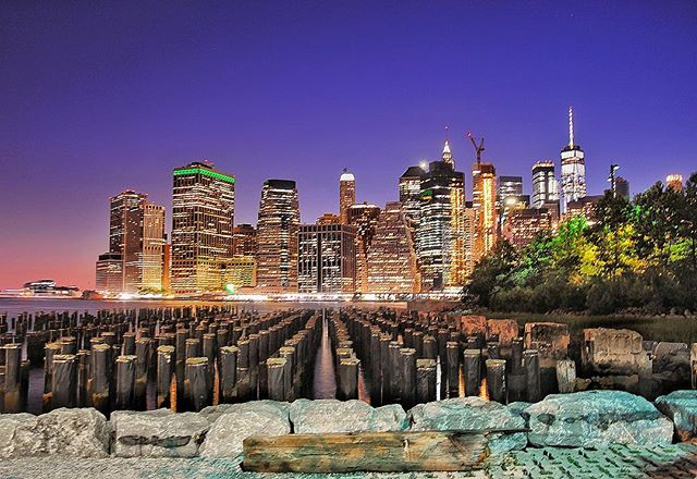On a recent foray into the Big Apple. _ The view of Lower Manhattan from Brooklyn Bridge Park is pretty amazing.