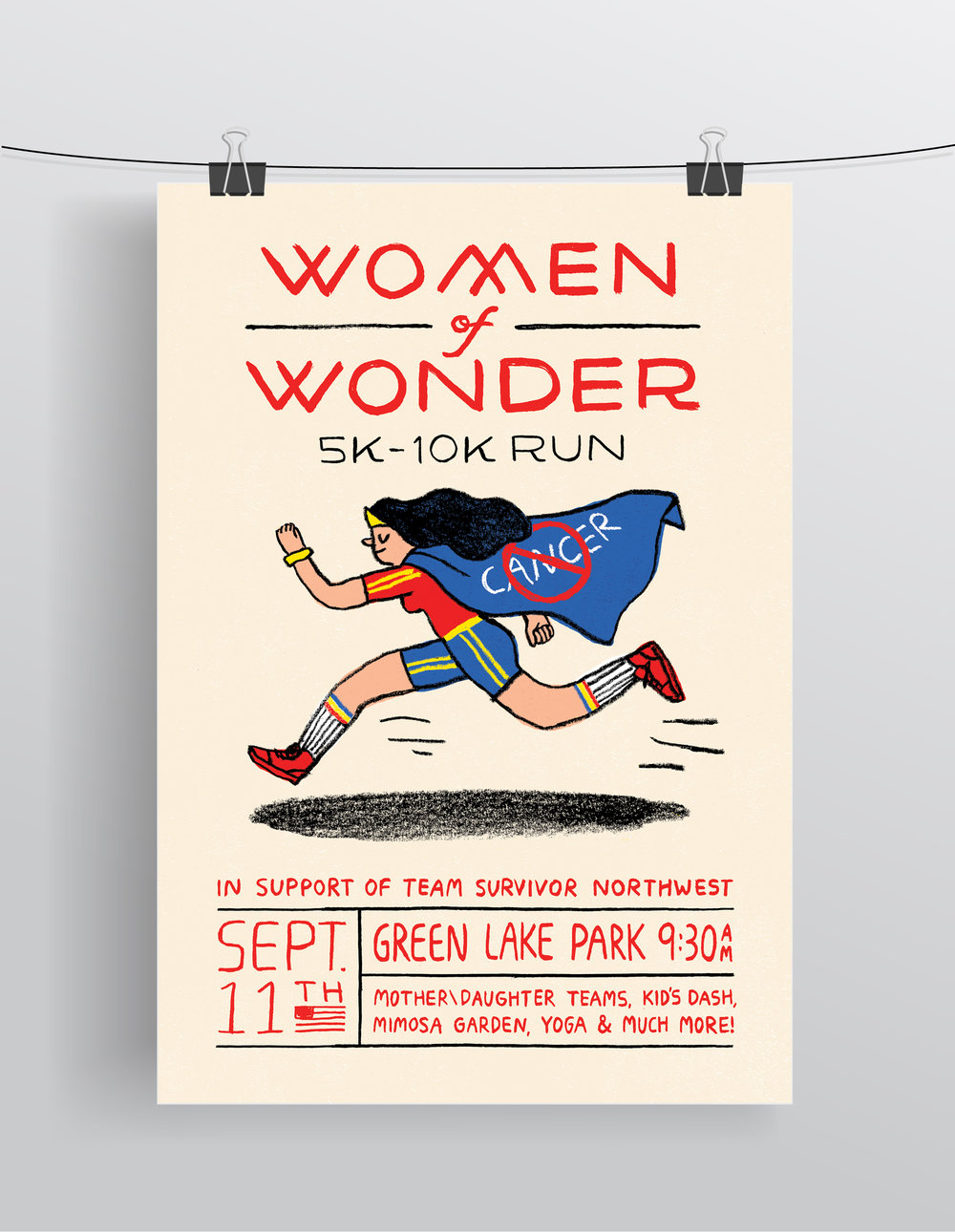 Women of Wonder 5k-10k Run  Digital Print