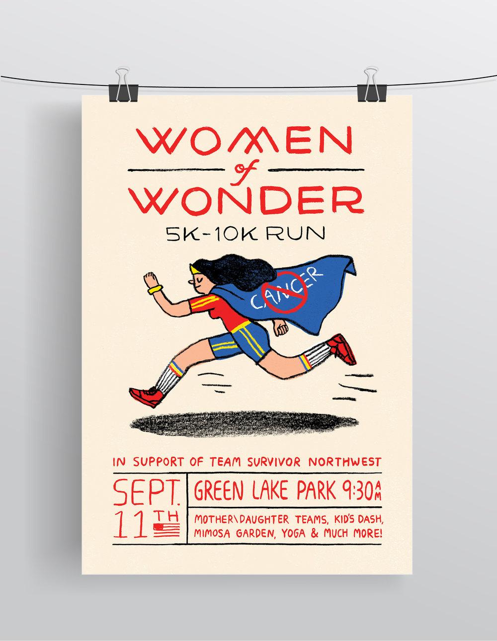 Women of Wonder 5k-10k Run  Digital Print