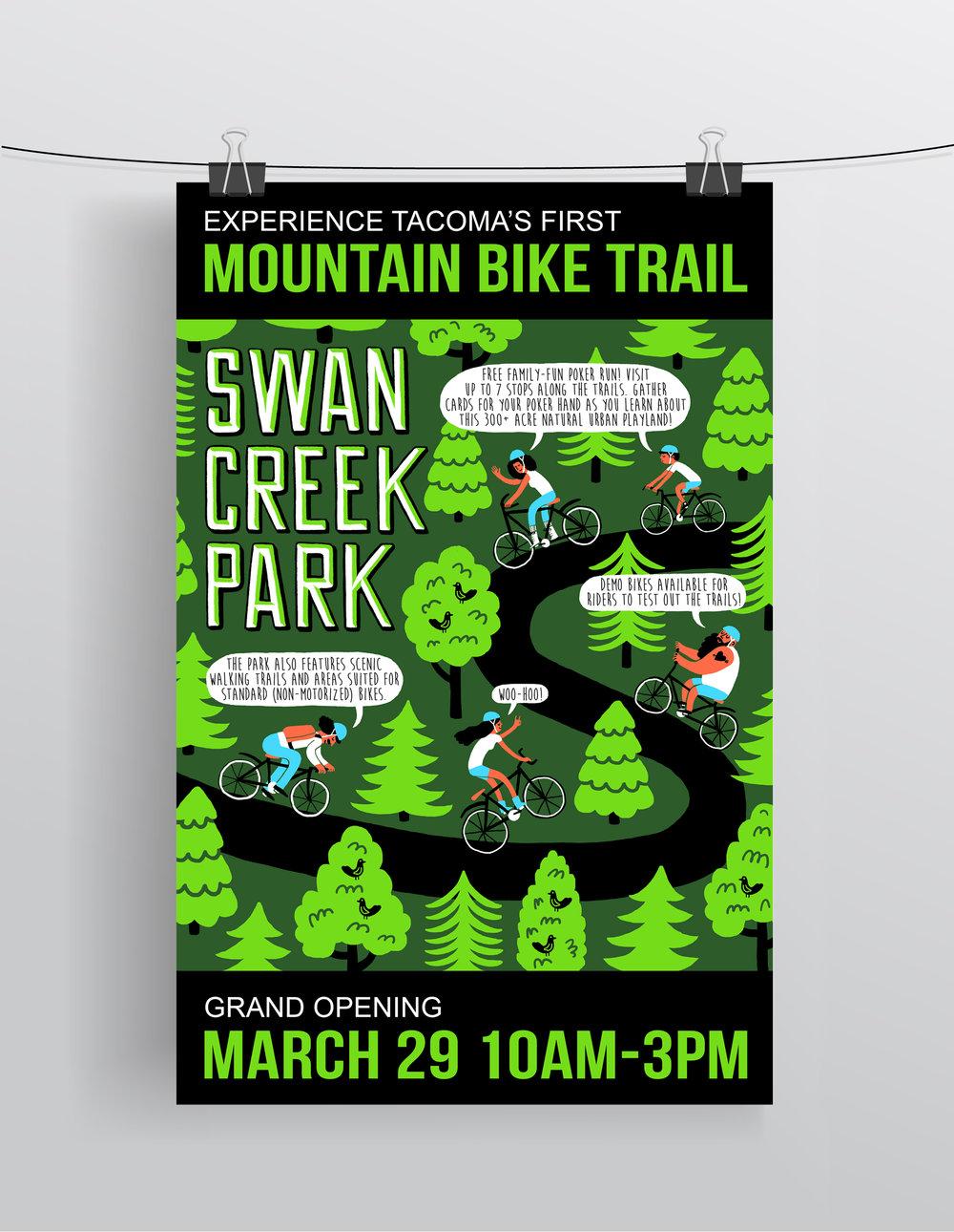 Swan Creek Park  Digital Print