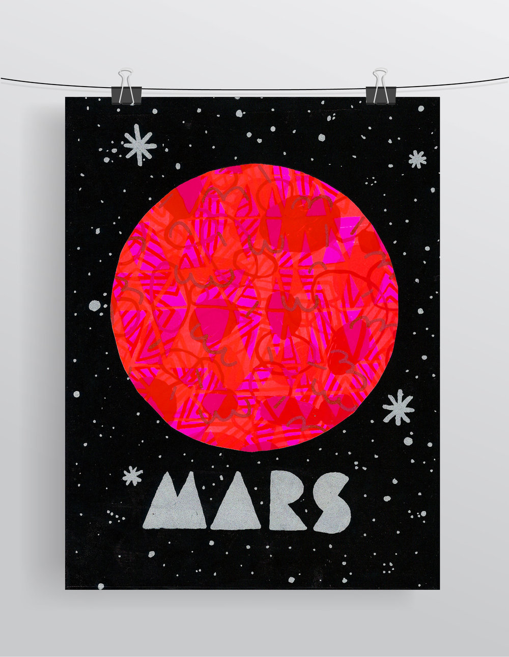 Mars  Screenprint
