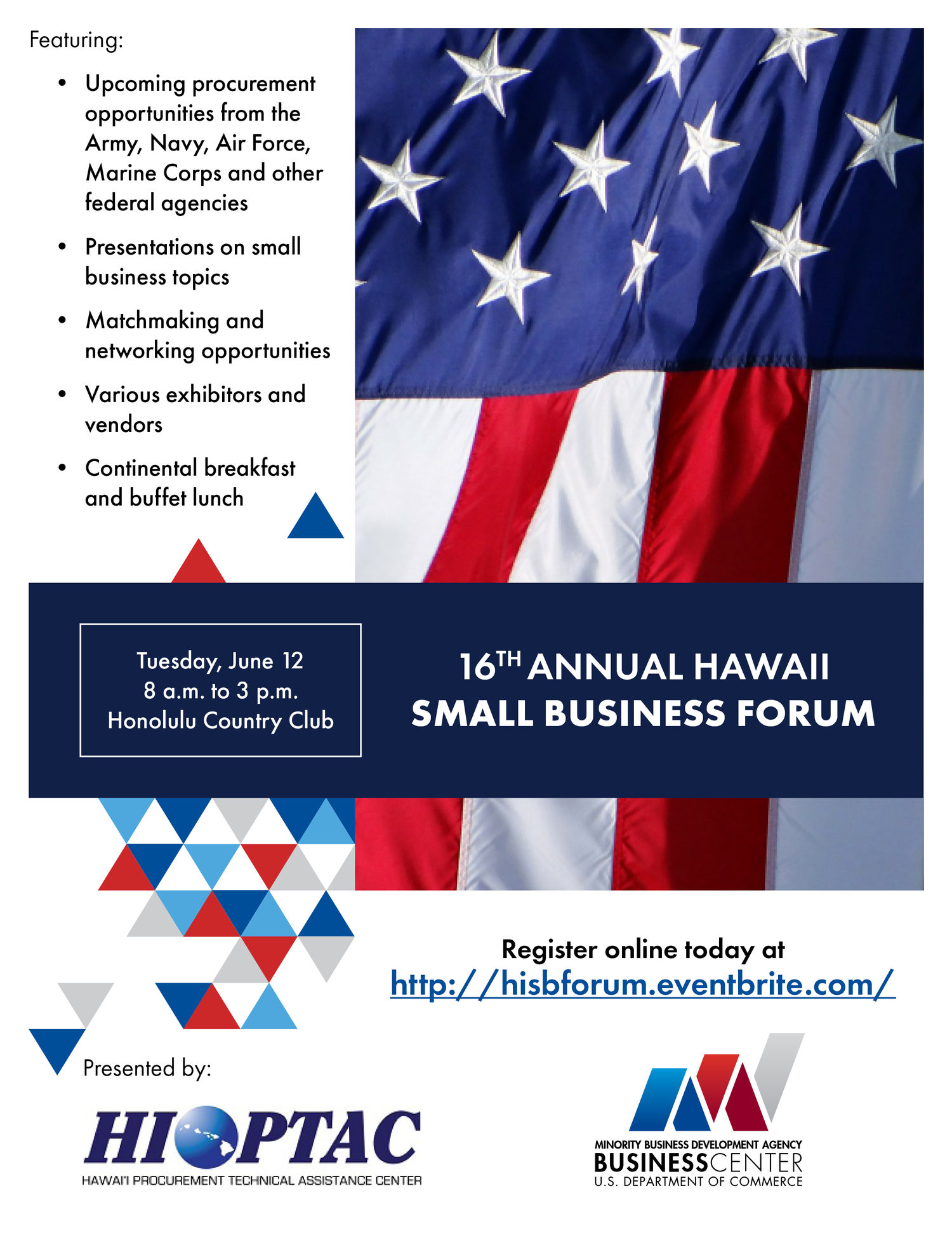 16th Annual Hawaii Small Business Forum — MBDA Business