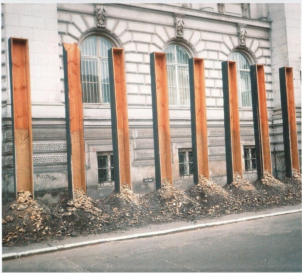 Epitafium - Siedem przestrzeni Warszawa, 1991 fot. J.Kalina