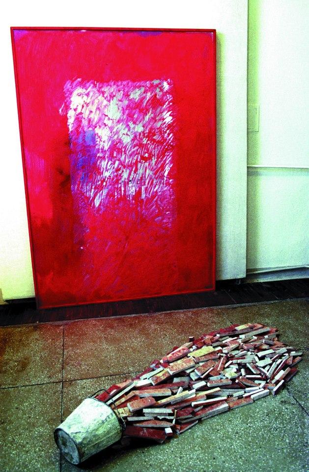 """""""Przejście przez Morze Czerwone - upadek gigantów"""" Warszawa, 1992 Fot. Jaroslaw Maciej Goliszewski / AA / EPOKA"""