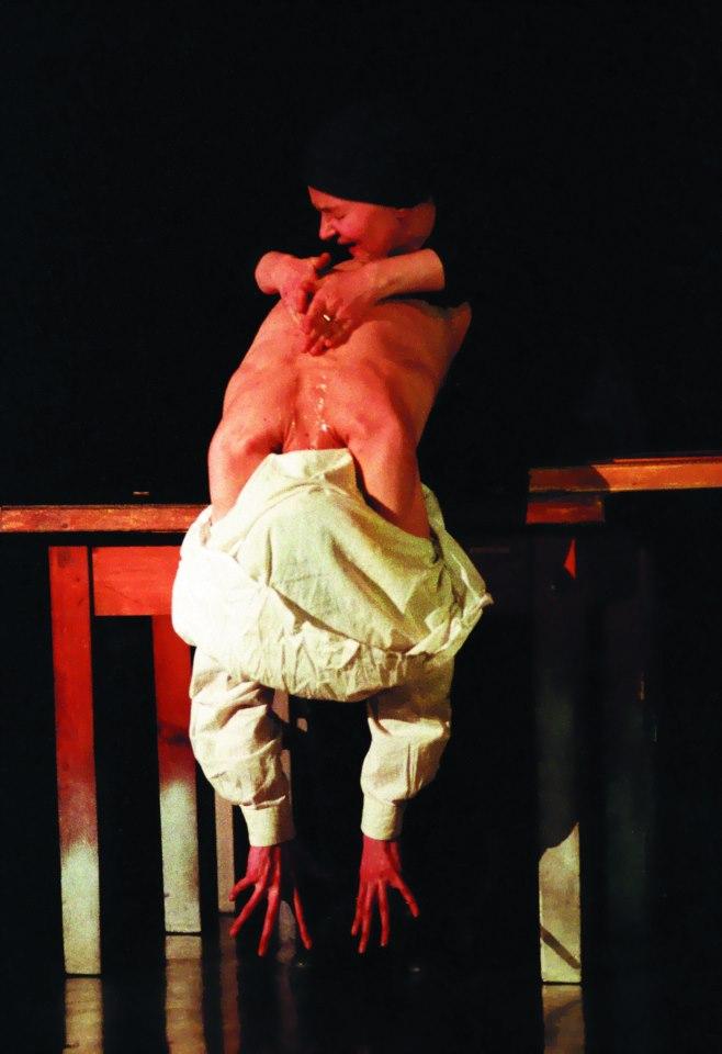 """""""Katapulta"""" Reżyseria, scenografia, kostiumy - J. Kalina Warszawa, 1993 fot. Jarosław M. Goliszewski / AA / EPOKA"""