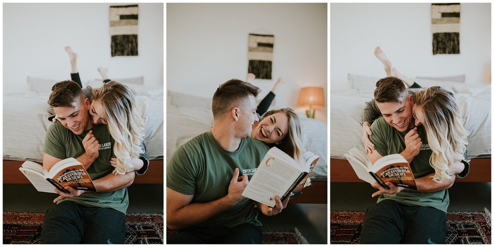 Dani + James - In home couple session