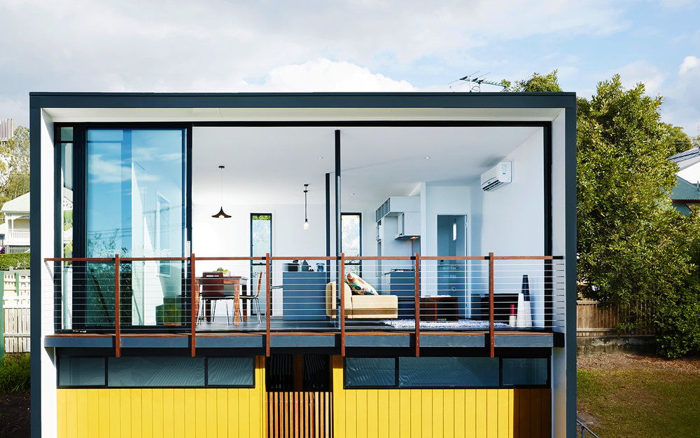 Herston gardenhouse is a funky backyard studio house for two people.