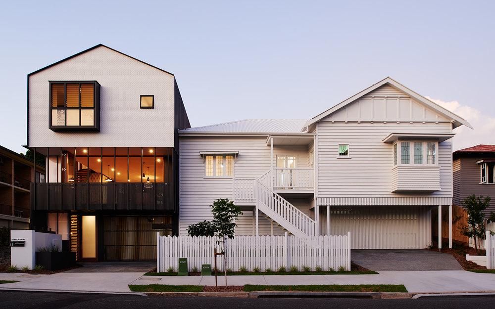 Habitat on Terrace Street View | new townhouse interprets existing queenslander