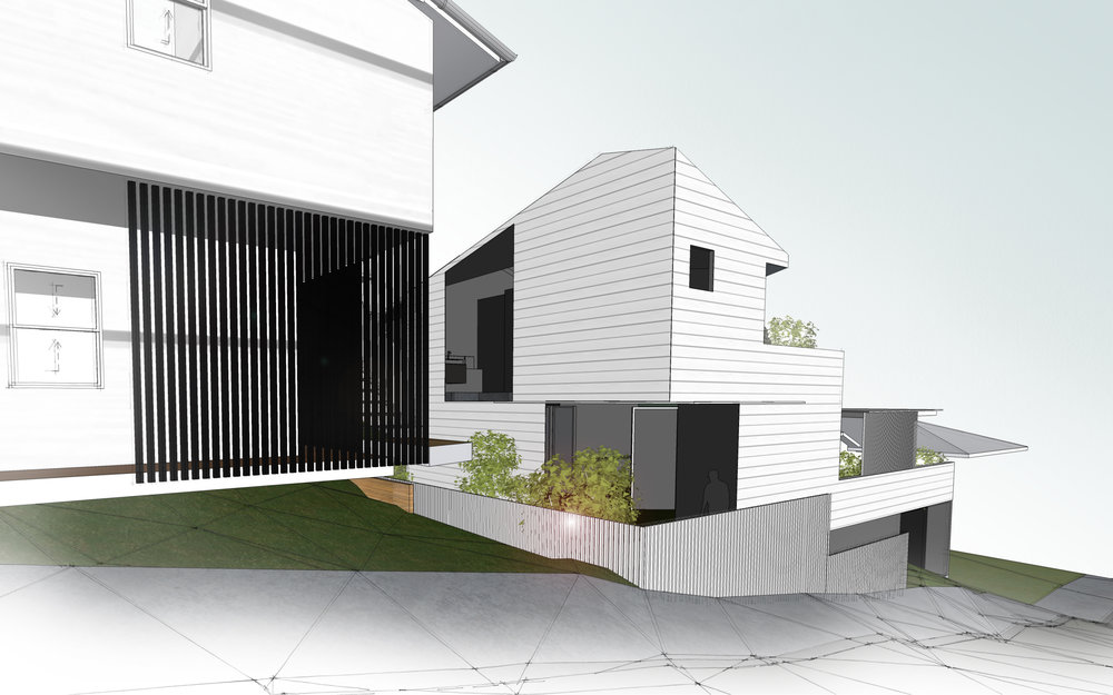 private elevated gardens give intimacy and outlook at the same time