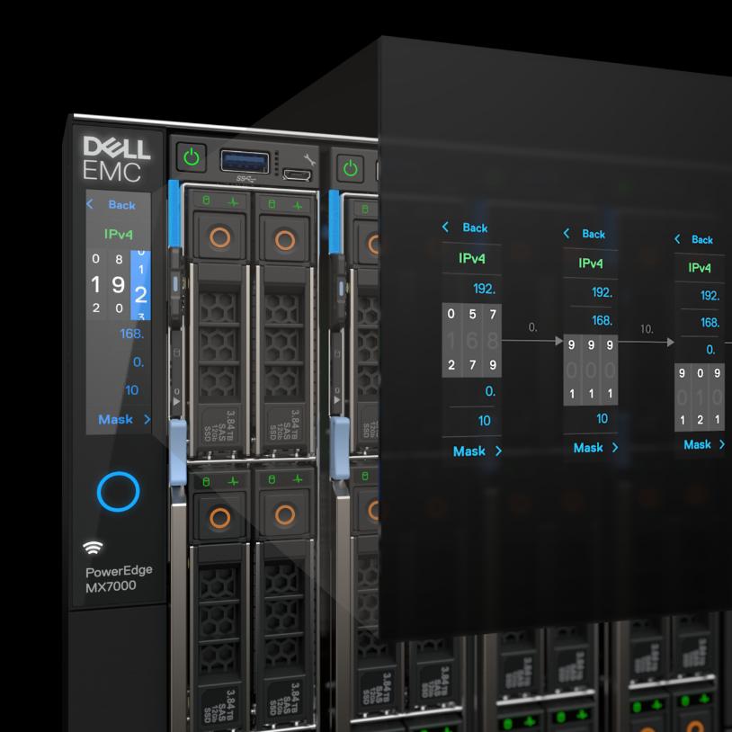 DELL EMC POweredge mx - Touchscreen UX Design