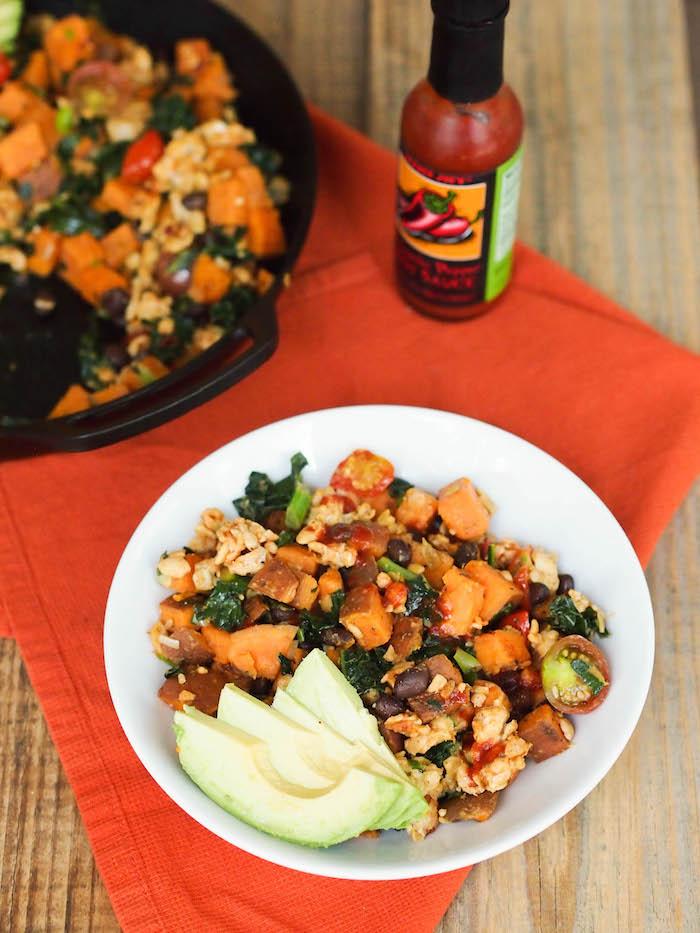 Vegan Southwestern Tempeh Hash with Kale