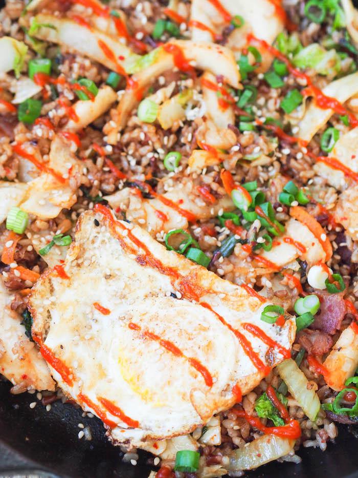 Healthy kimchi fried rice