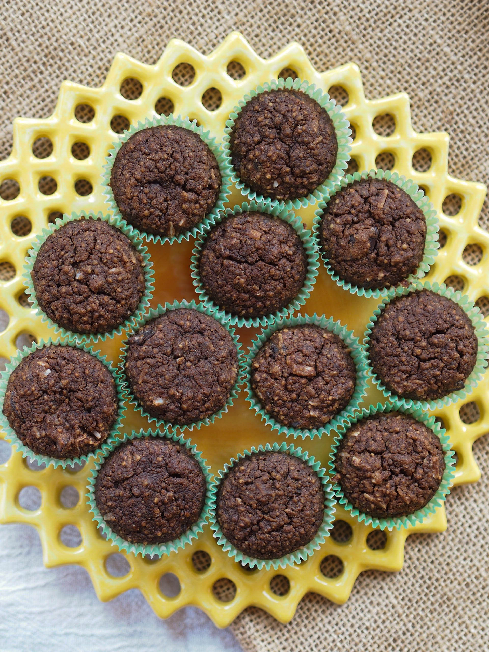 Mini Chocolate Quinoa Cupcakes
