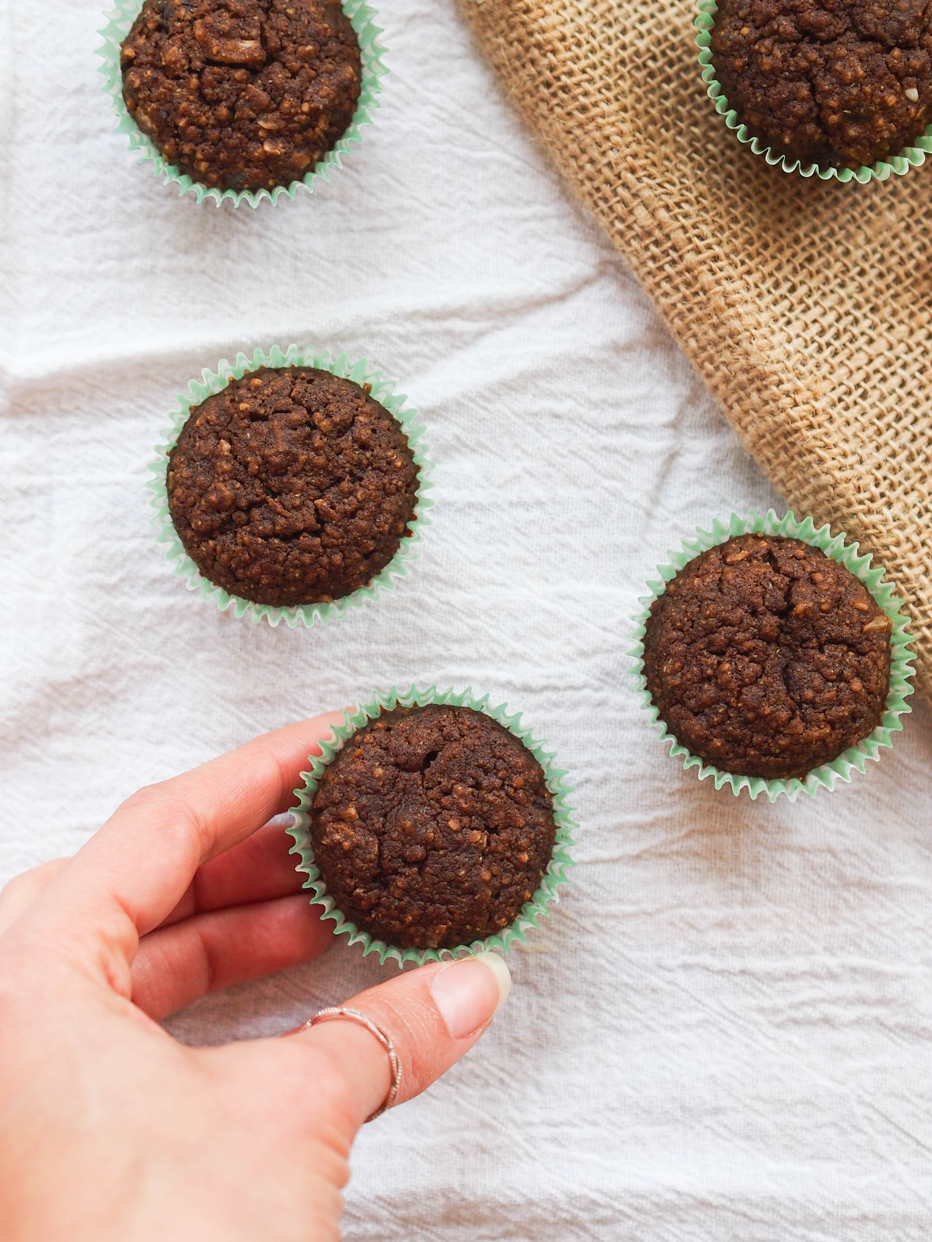 Chocolate Quinoa Coconut Cupcakes