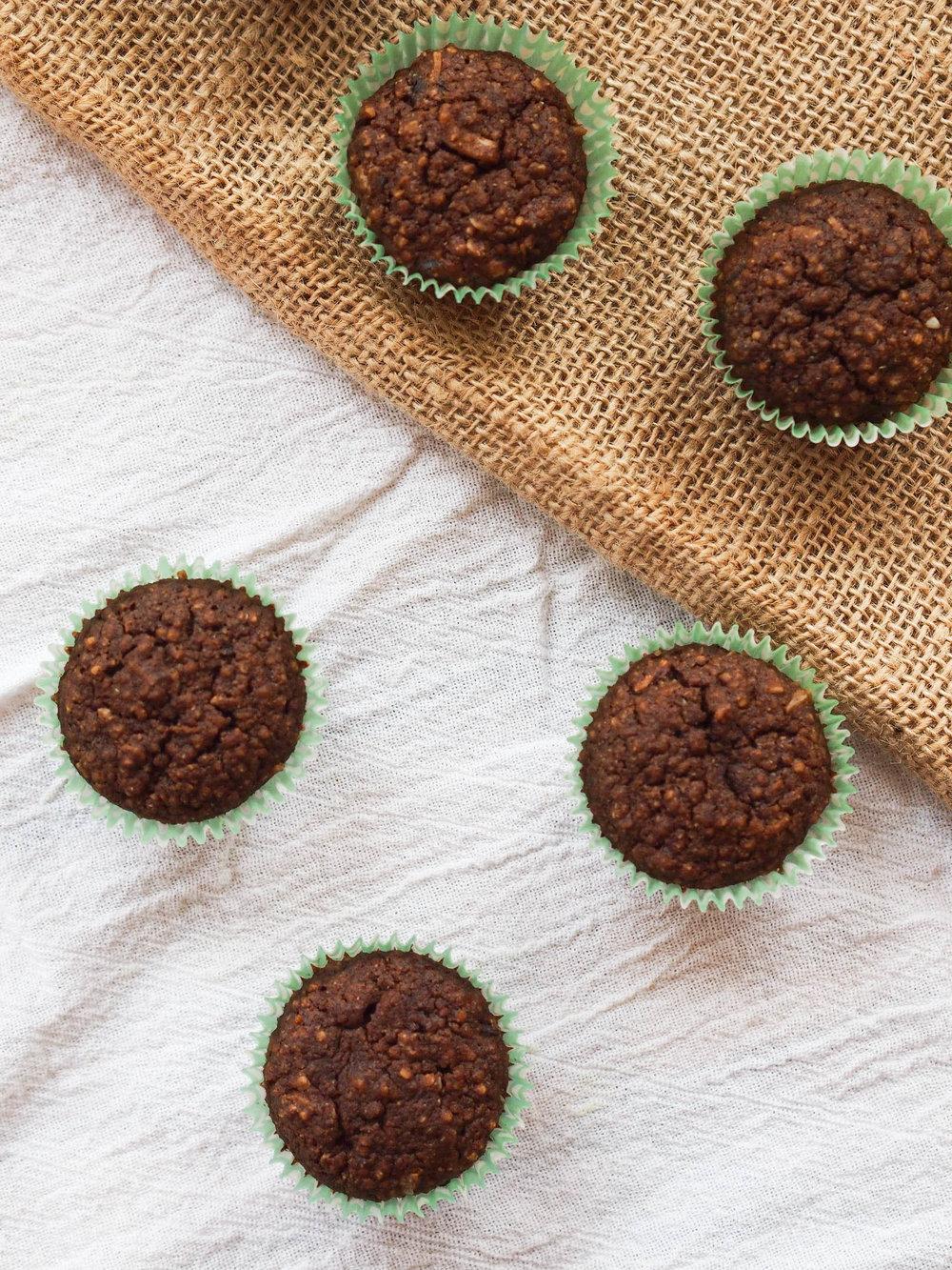 Mini Gluten Free Chocolate Quinoa Cupcakes