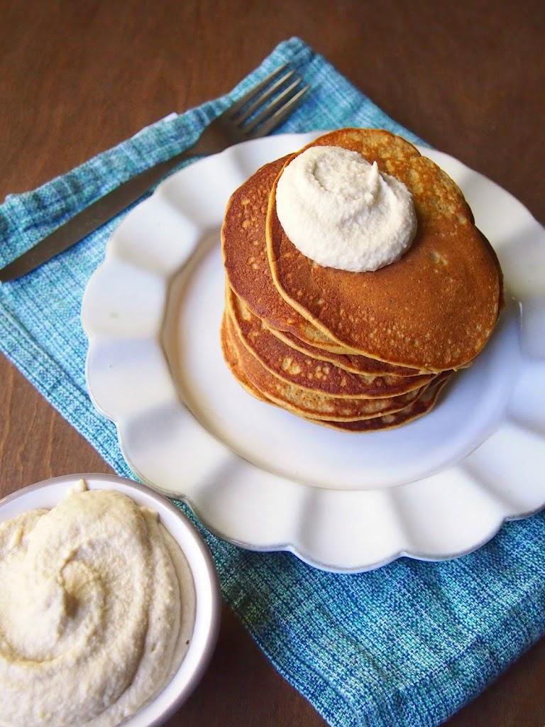coconut flour pumpkin pancake cashew cream