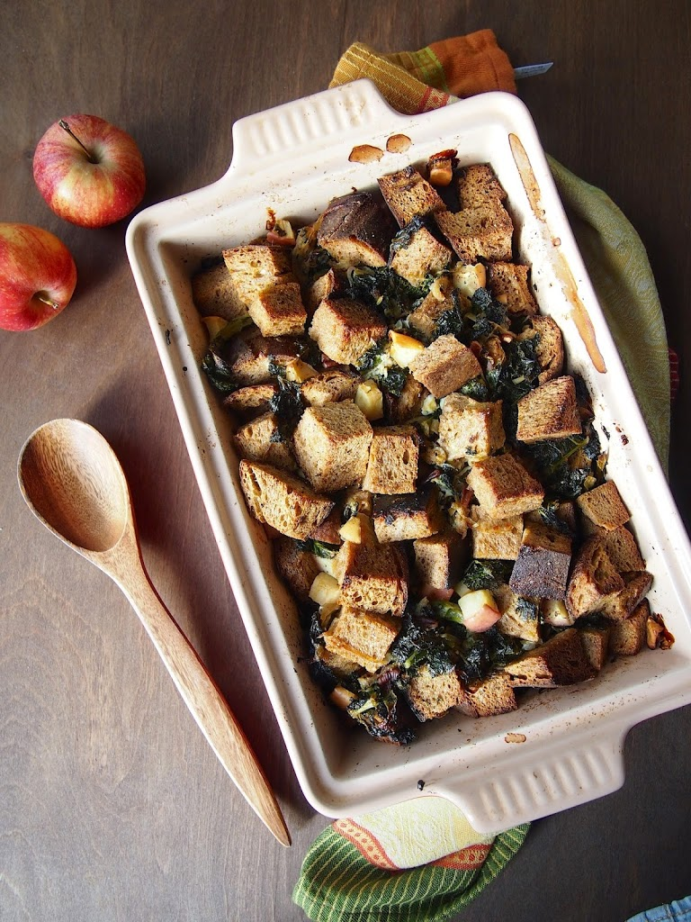 kale caramelized onion apple stuffing