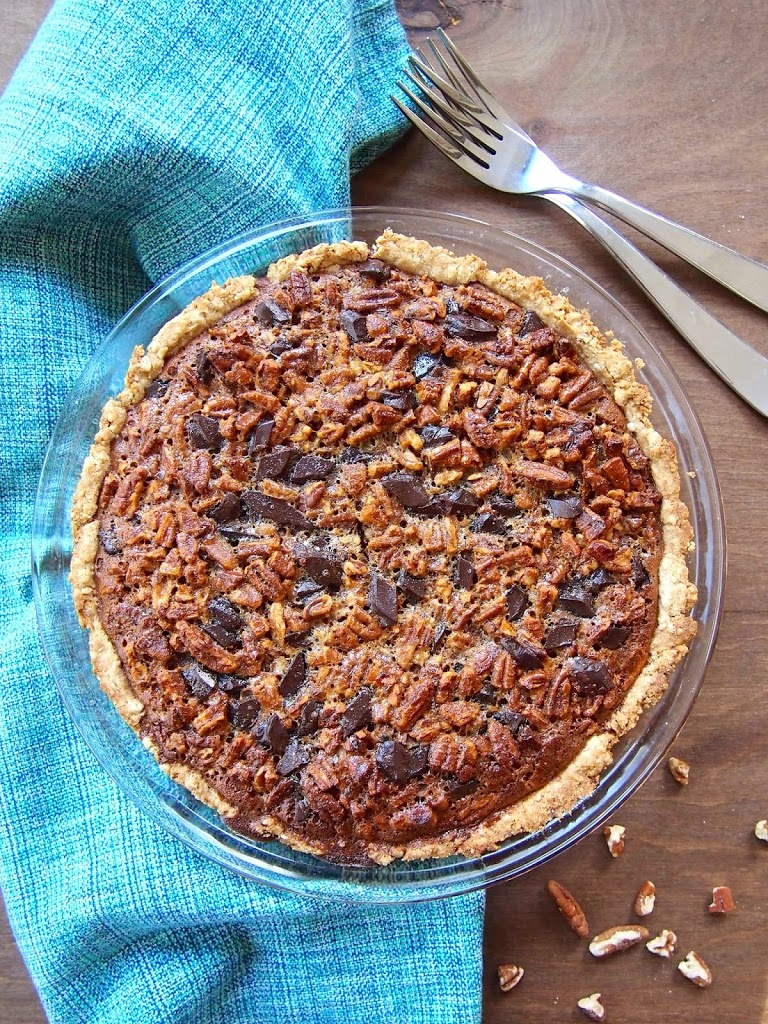 healthy whole grain pecan pie