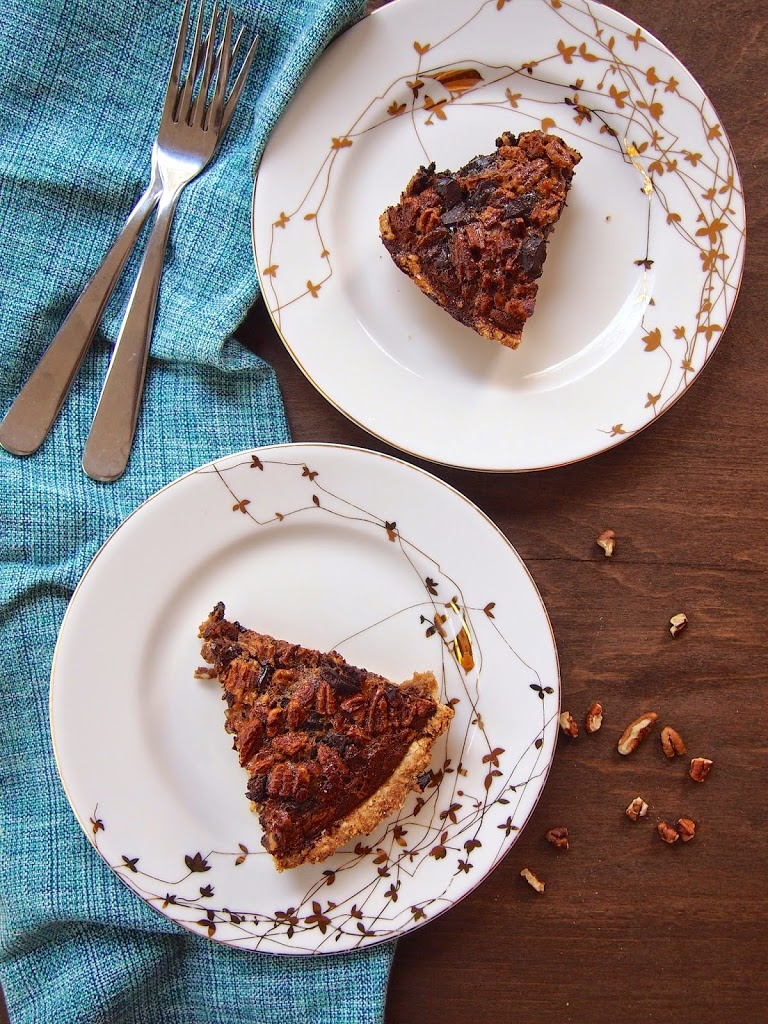 reduced sugar pecan chocolate pie