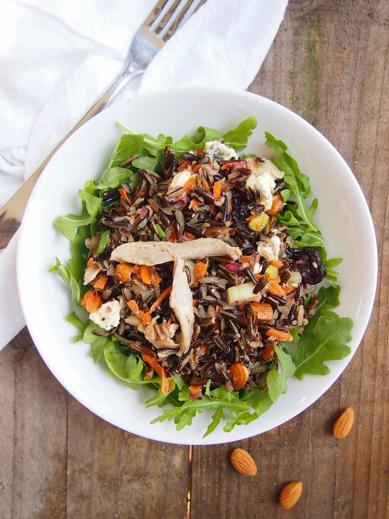 wild rice salad with chicken and tart cherries