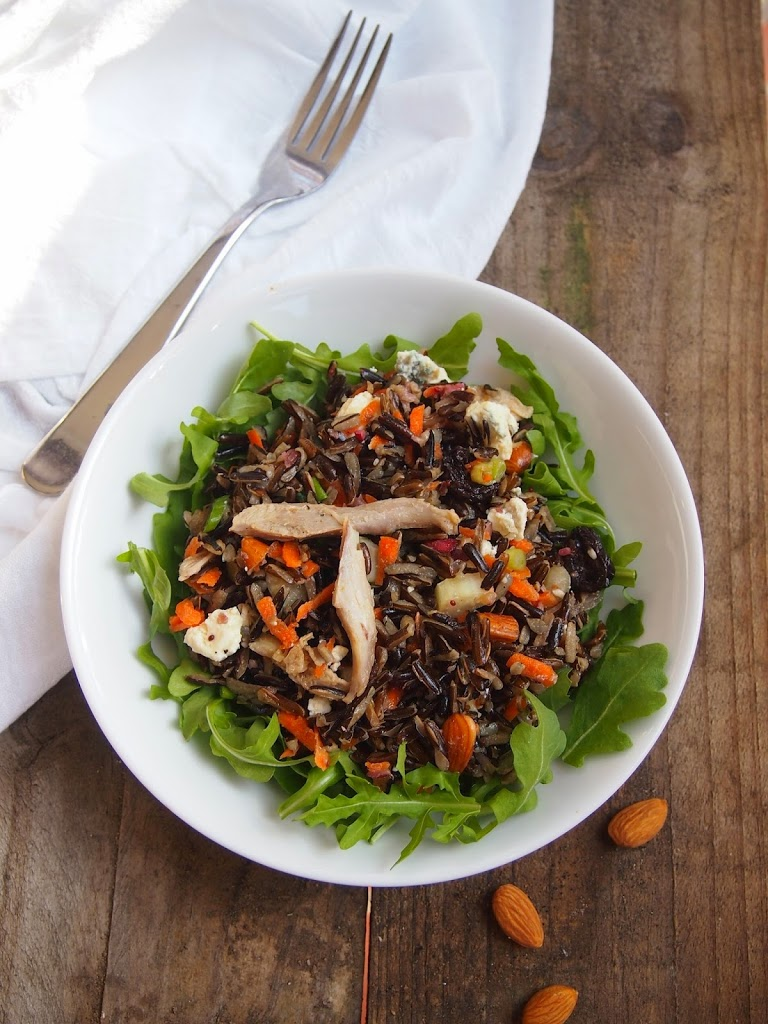 wild rice salad with cranberry vinaigrette