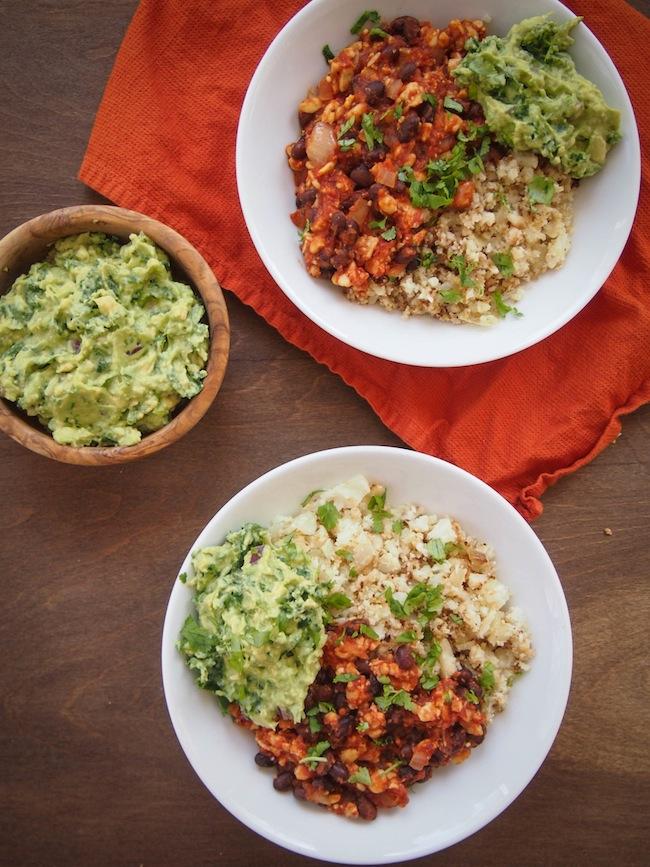 Grain Free Cauliflower Rice Bowl