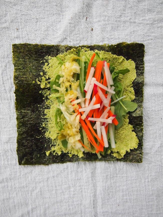 Raw Vegan Nori Rolls with Edamame
