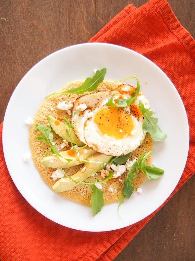 Savory Chickpea Pancake with Avocado