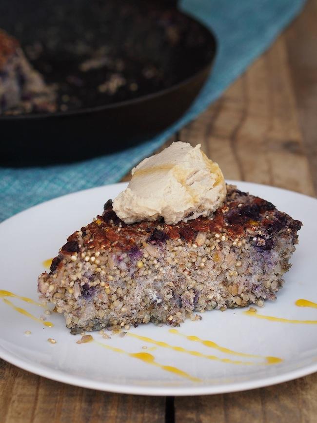 Multigrain Vegan Blueberry Breakfast Bake